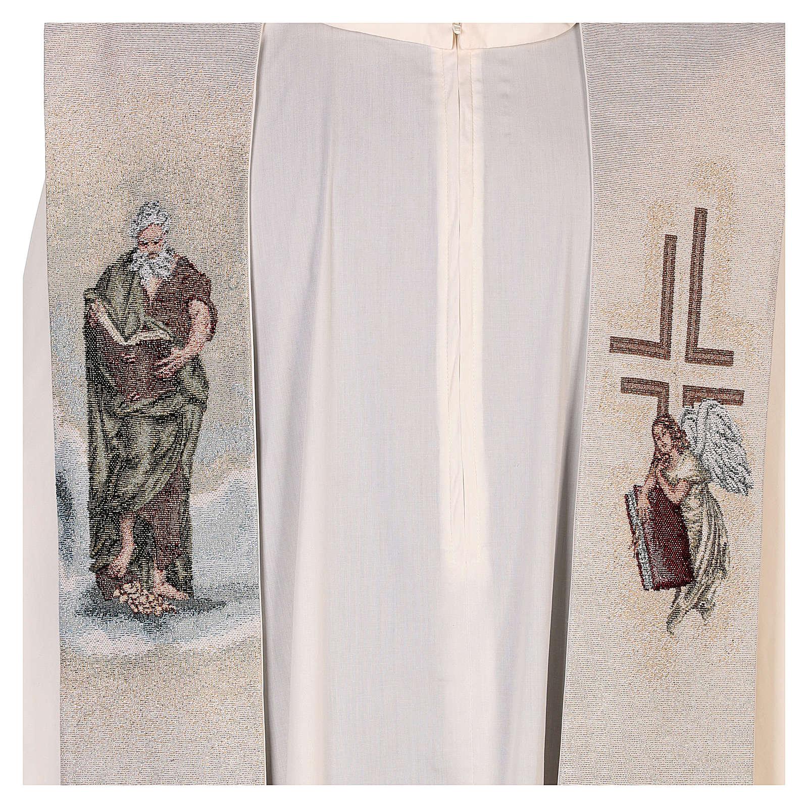 Étole Saint Matthieu Évangéliste avec homme ailé couleur ivoire 4