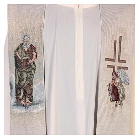 Étole Saint Matthieu Évangéliste avec homme ailé couleur ivoire s2