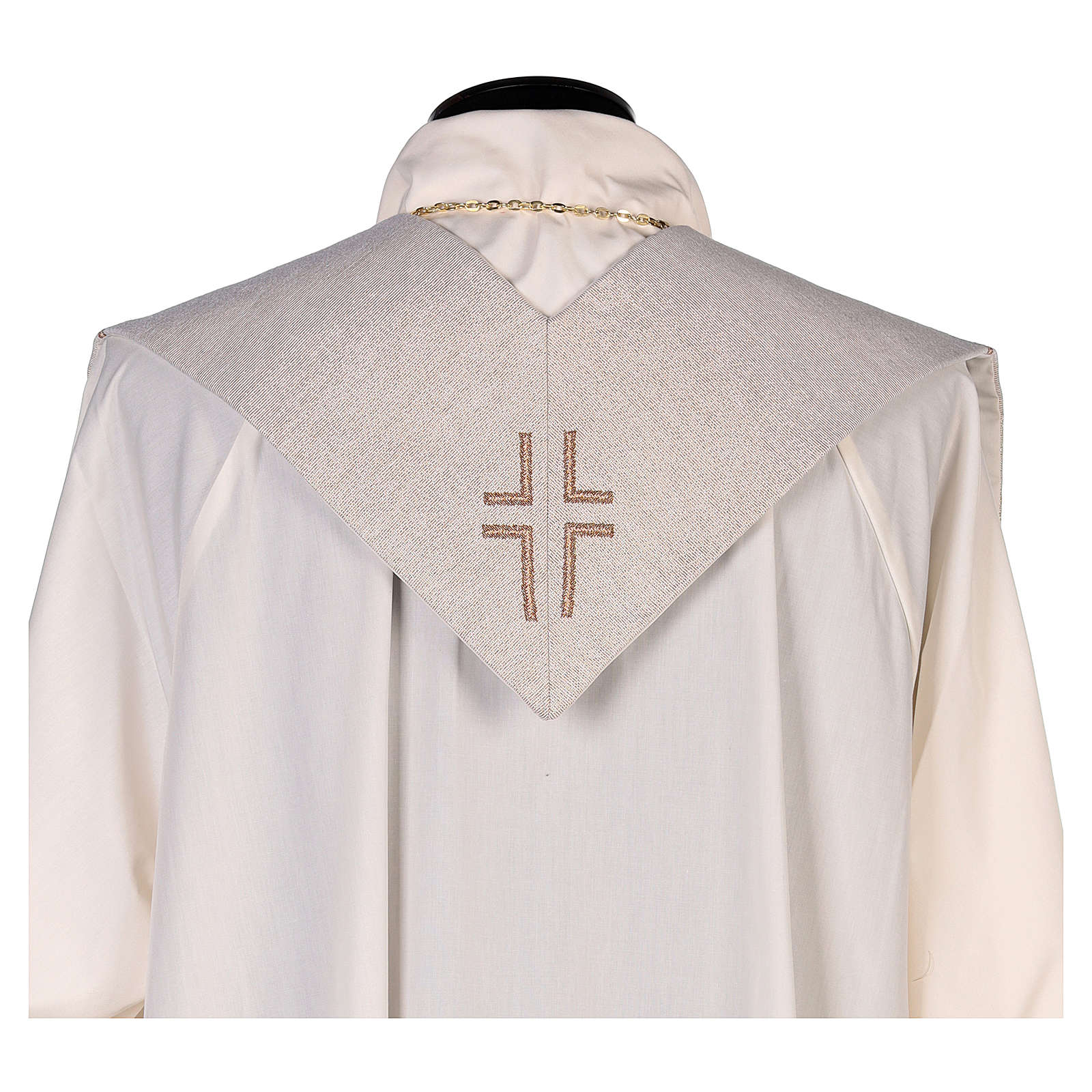 Stola San Matteo Evangelista con uomo alato avorio 4