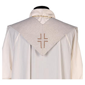 Stola San Matteo Evangelista con uomo alato avorio s3