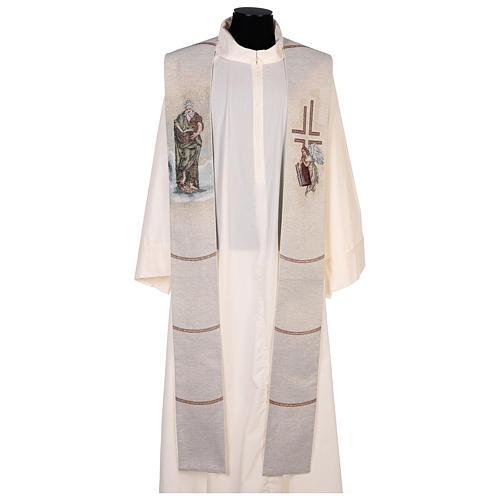 Stola San Matteo Evangelista con uomo alato avorio 1