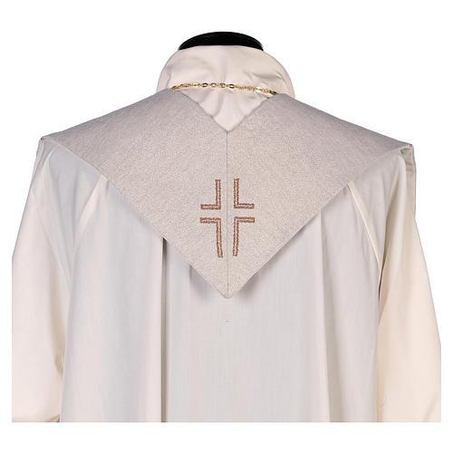Stola San Matteo Evangelista con uomo alato avorio 3