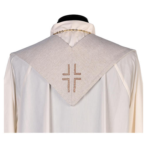Stola San Giovanni Evangelista con piuma e aquila avorio 3