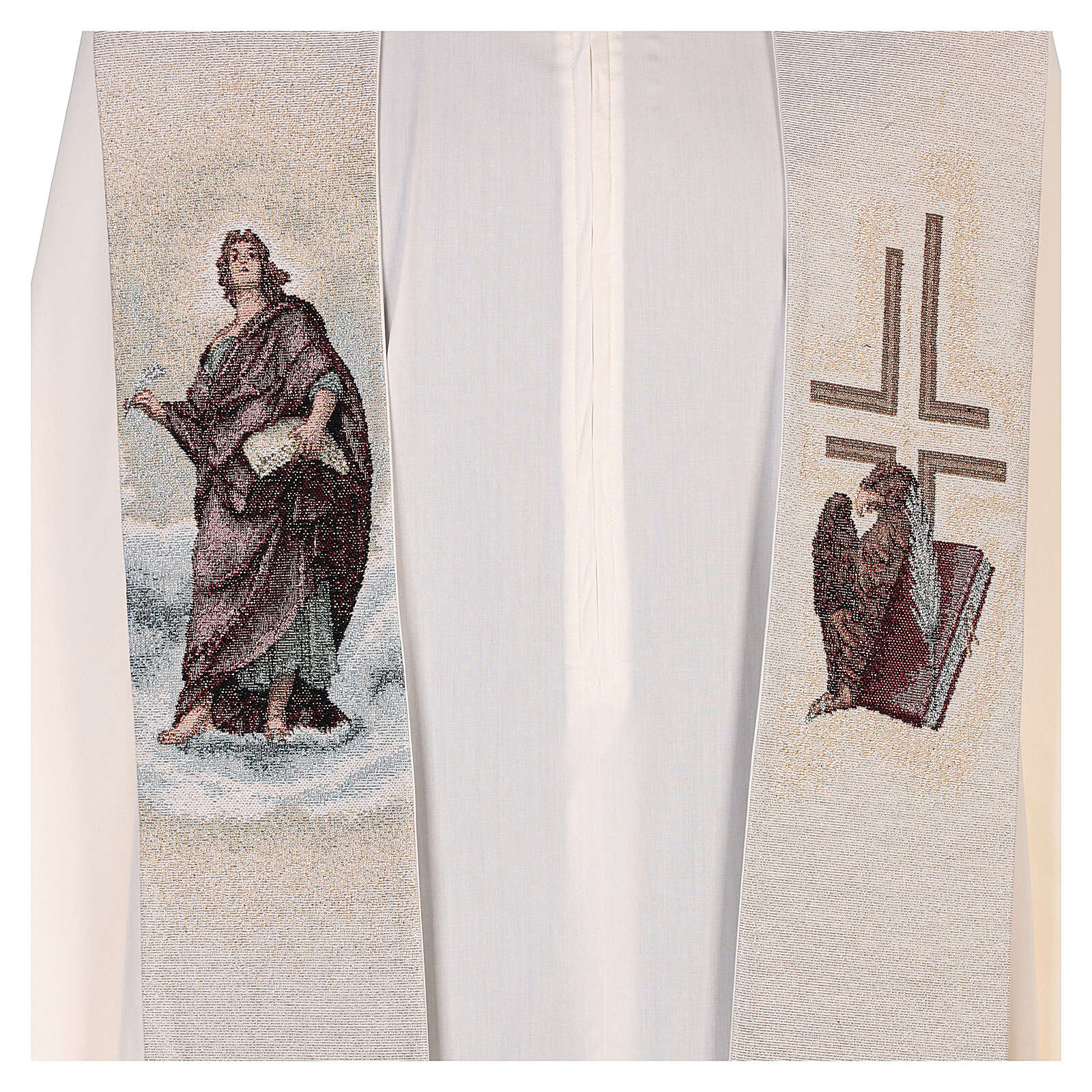 Ivory Stole St John the Baptist with feather and eagle 4