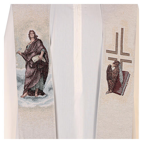 Ivory Stole St John the Baptist with feather and eagle 2