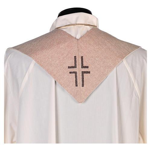 Estola símbolo vocación con rostro de Jesús marfil 3