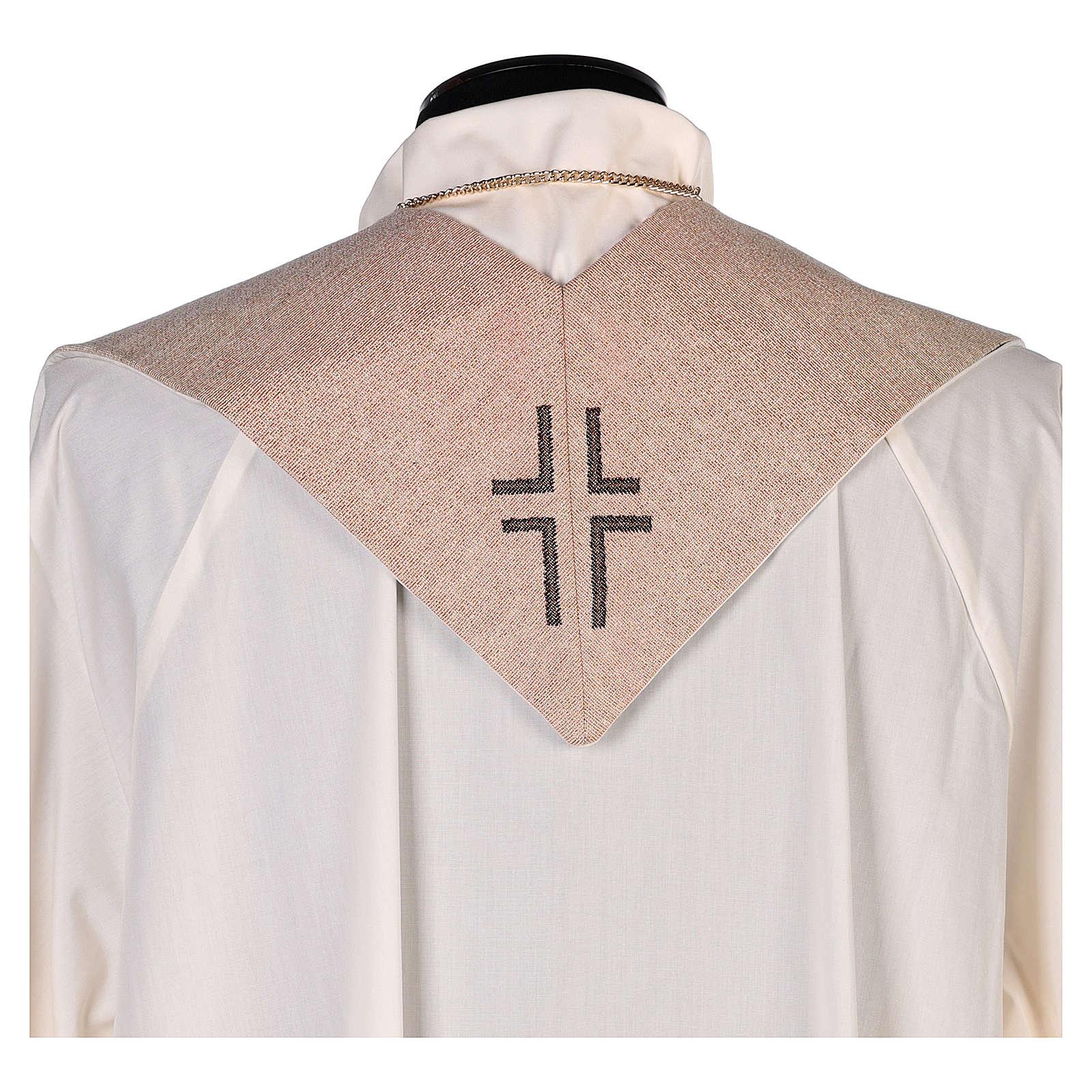Stola simbolo vocazione con volto di Gesù avorio 4