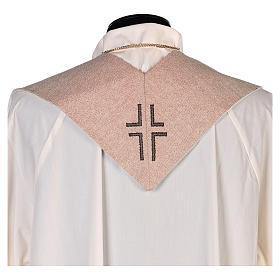 Stola simbolo vocazione con volto di Gesù avorio s3