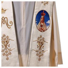 Estola mariana Fátima bordados oro cuentas strass s2
