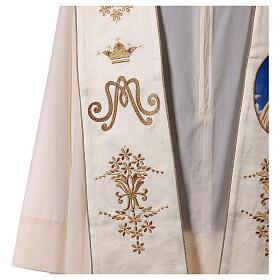 Estola mariana Fátima bordados oro cuentas strass s3