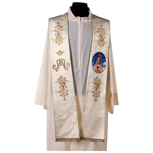 Stola mariana Fatima ricami oro strass 1