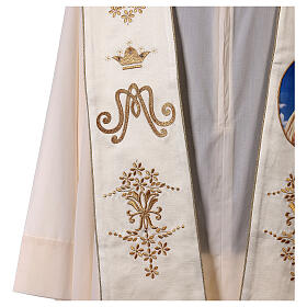 Stole with Marian and Fatima embroidery gold strass s3