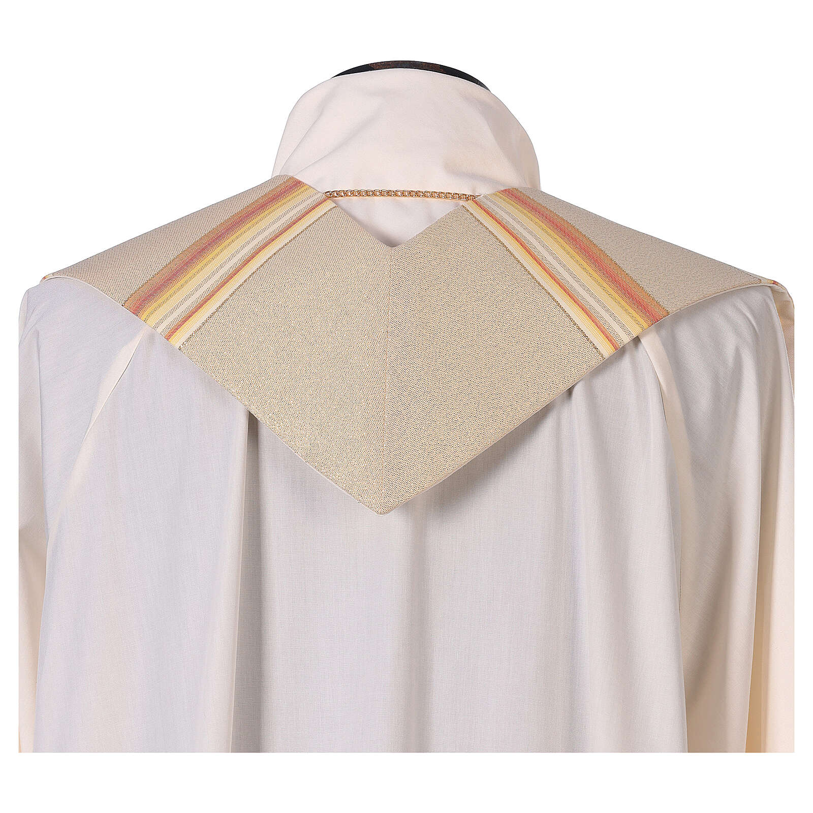 STOCK Étole liturgique en dégradé tons orange et or 100% polyester 4