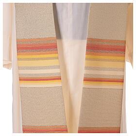 STOCK Étole liturgique en dégradé tons orange et or 100% polyester s2