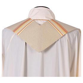 STOCK Étole liturgique en dégradé tons orange et or 100% polyester s3