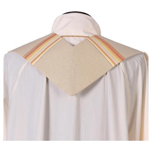 STOCK Étole liturgique en dégradé tons orange et or 100% polyester 3