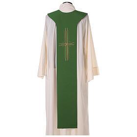 Tristola Liturgica calice e uva bicolore viola e verde 100% poliestere s6
