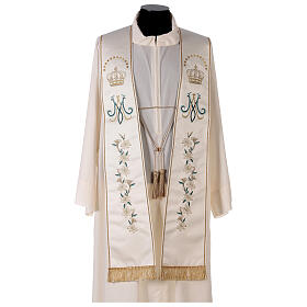 Marian stole satin embroidered 100% polyester s1