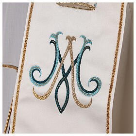 Marian stole satin embroidered 100% polyester s4