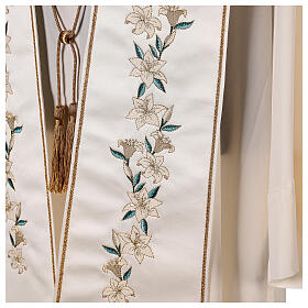 Marian stole satin embroidered 100% polyester s5