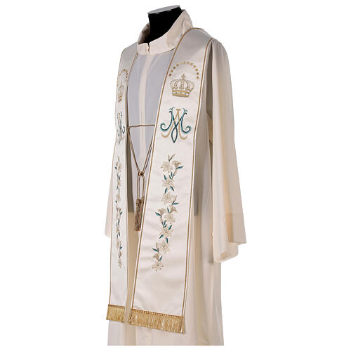 Marian stole satin embroidered 100% polyester 3