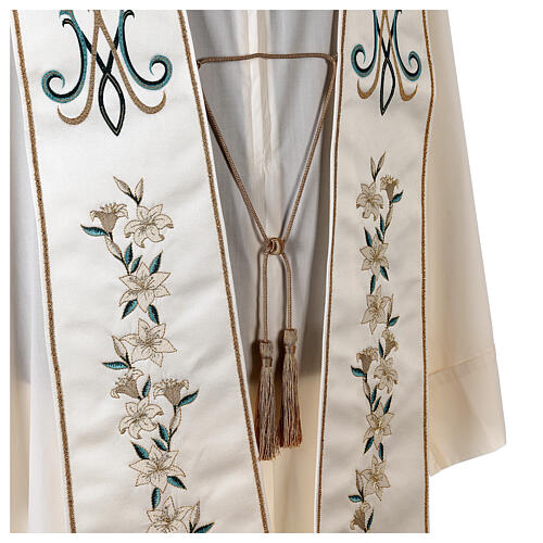 Marian stole satin embroidered 100% polyester 6
