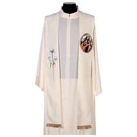 Estola colores litúrgicos San José 100% poliéster s1