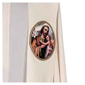 Estola colores litúrgicos San José 100% poliéster s2