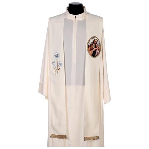 Estola colores litúrgicos San José 100% poliéster 1