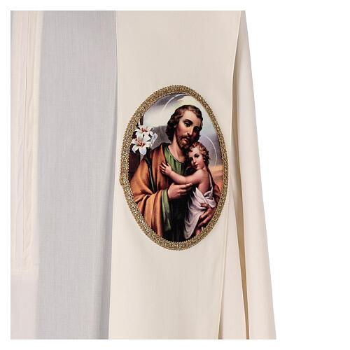 Estola colores litúrgicos San José 100% poliéster 2