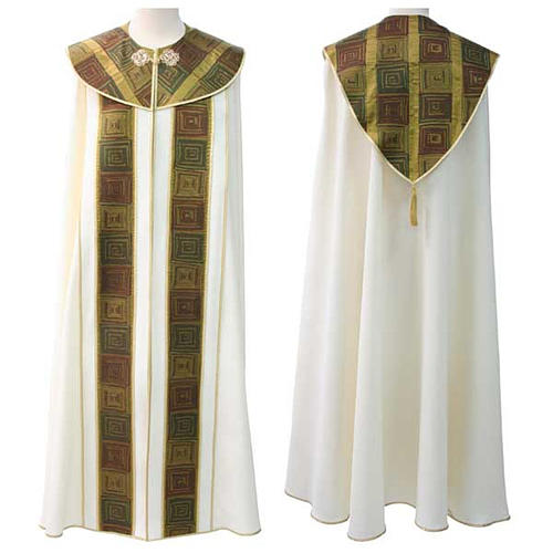 Liturgical cope with cross embroideries 1