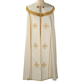 Liturgical cope with gold crosses embroideries s1