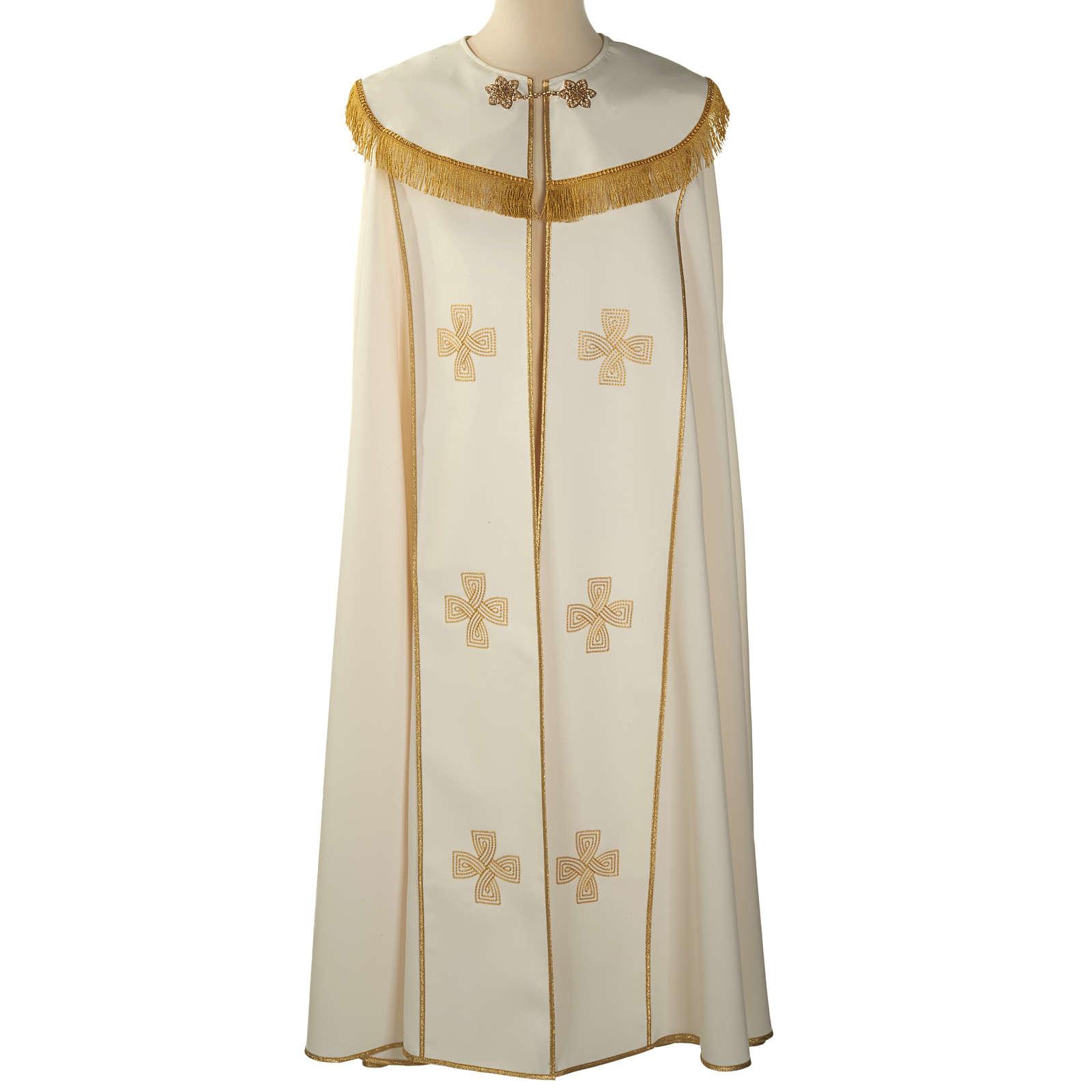 Chape liturgique croix dorées 4