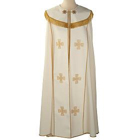 Chape liturgique croix dorées s1