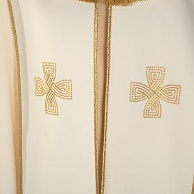 Chape liturgique croix dorées s2