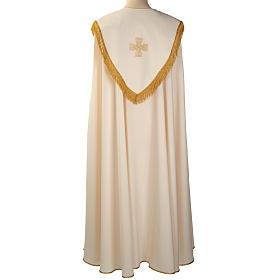 Chape liturgique croix dorées s4