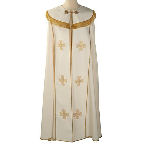 Chape liturgique croix dorées 1