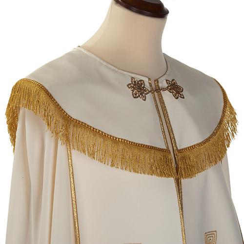 Chape liturgique croix dorées 3