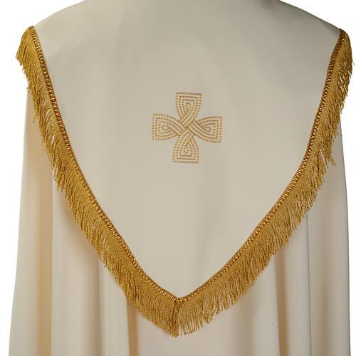 Chape liturgique croix dorées 5