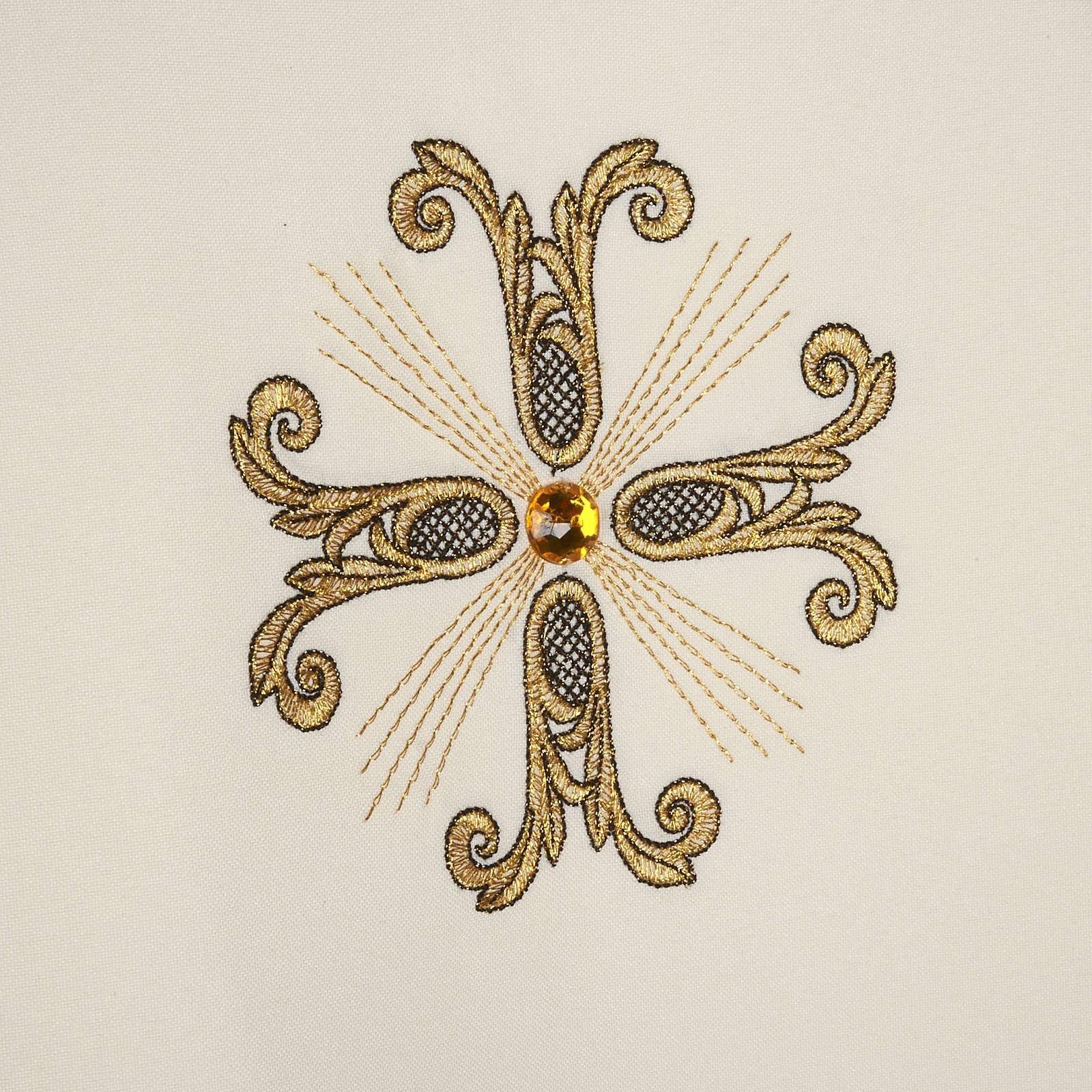Piviale croci oro perline vetro 4