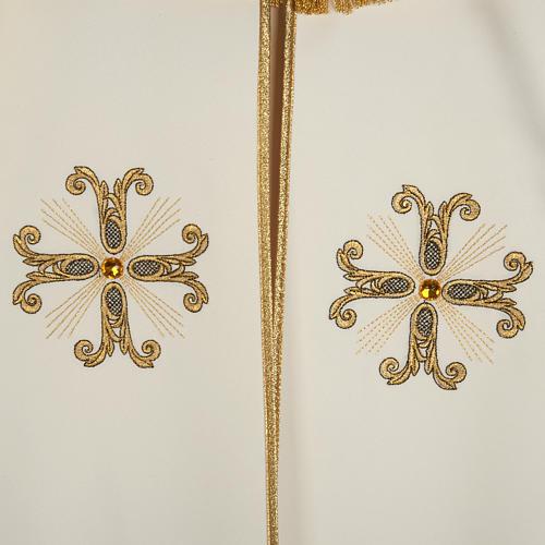Piviale croci oro perline vetro 3