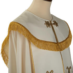Liturgical cope with gold cross and glass pearl s4