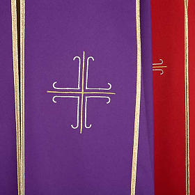Liturgical cope with gold crosses embroideries s4