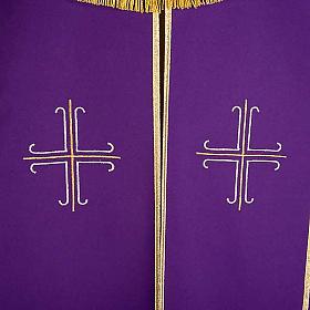 Piviale con croci stilizzate decorate s5