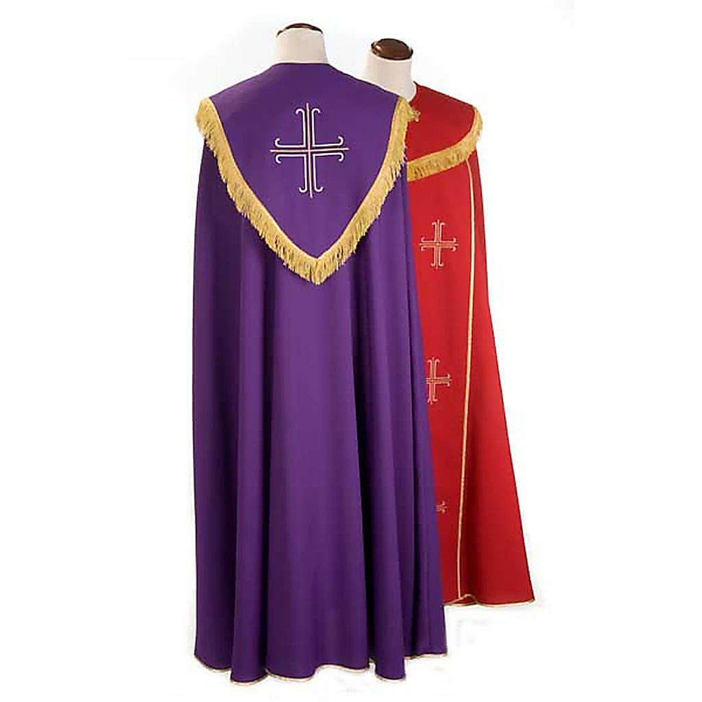 Liturgical cope with gold crosses embroideries 4