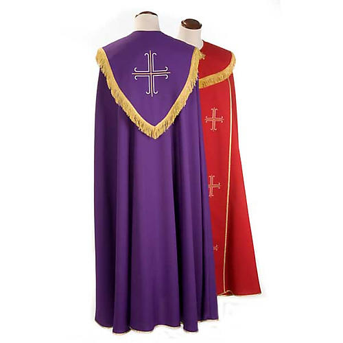 Liturgical cope with gold crosses embroideries 2