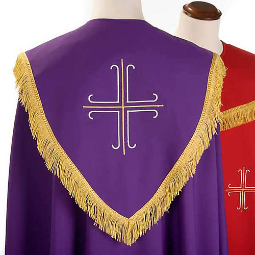 Liturgical cope with gold crosses embroideries 6