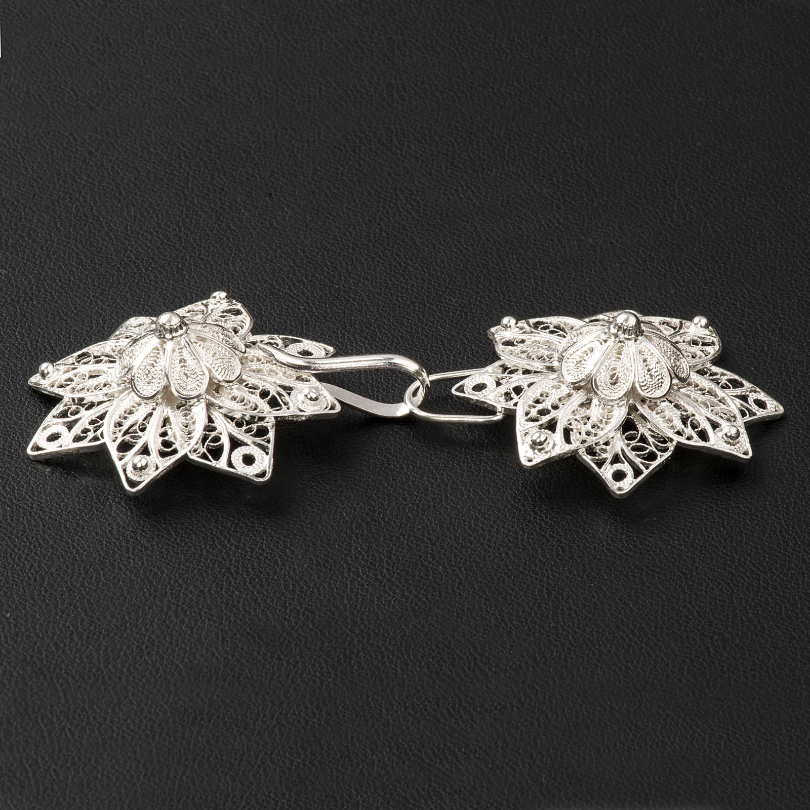 Cope Clasp in silver 800 filigree, star shaped 4