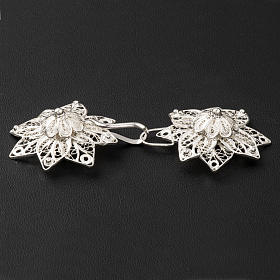 Cope Clasp in silver 800 filigree, star shaped s4