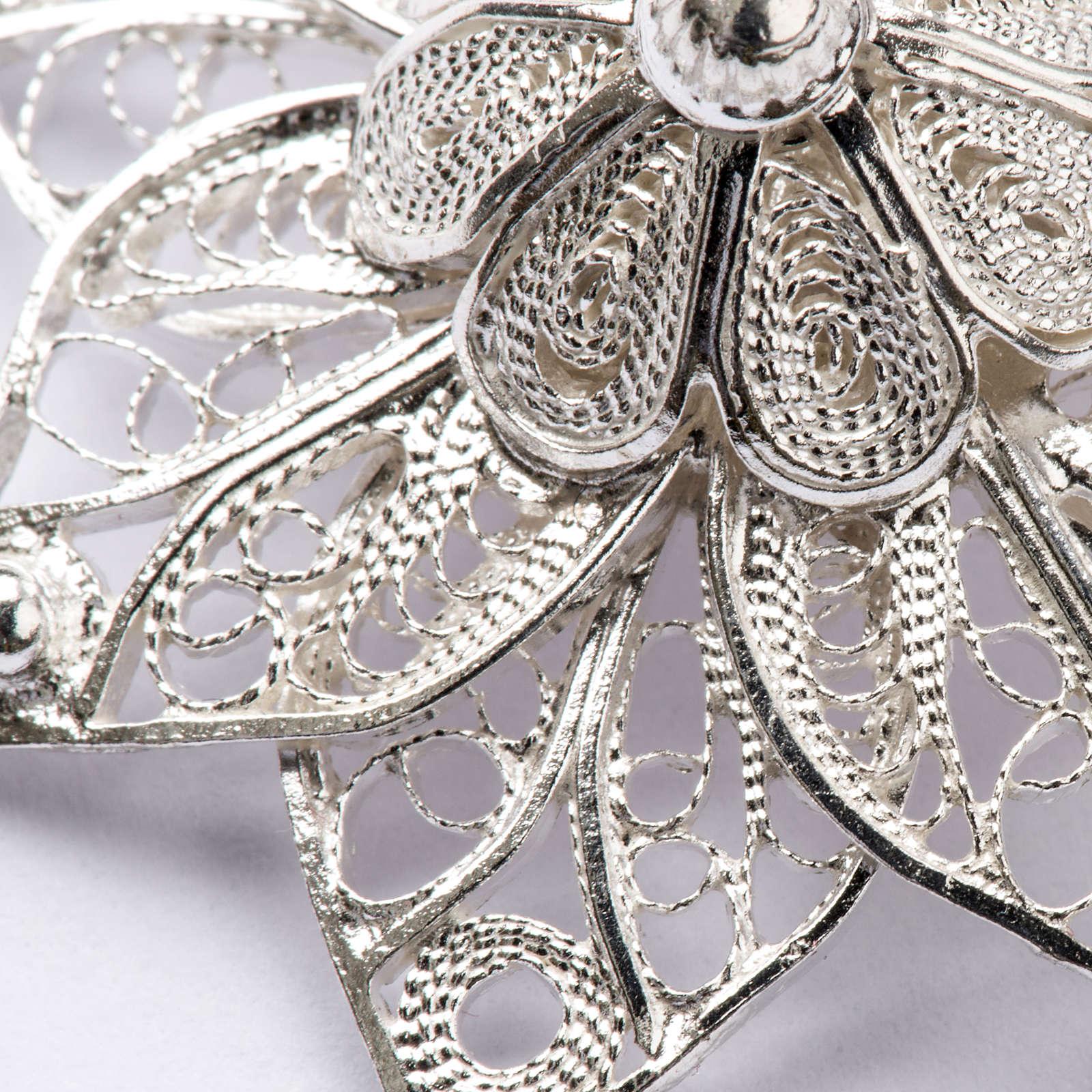 Gancio per piviale stella filigrana argento 800 4